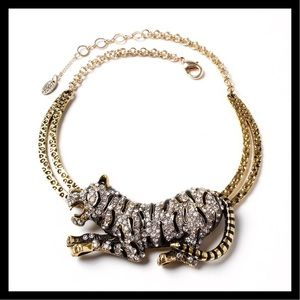 Siberian Tiger Necklace Antique Gold